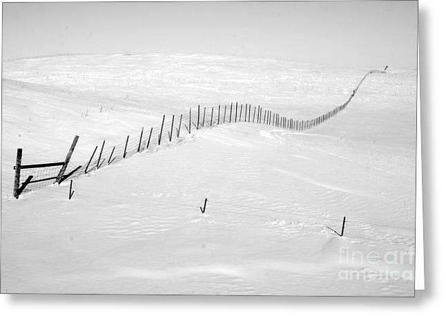 Snow Drifts Greeting Cards - Infinity Greeting Card by Julie Lueders