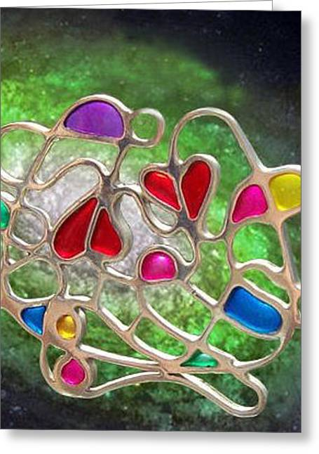 Purple Abstract Jewelry Greeting Cards - Infinity Greeting Card by Kerry Herbert