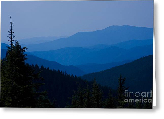 Blue Ridge Mountains Greeting Cards - Infinity Greeting Card by Idaho Scenic Images Linda Lantzy