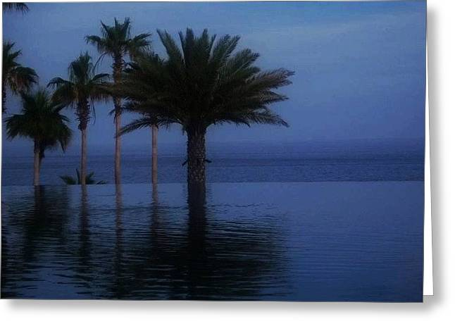 Ocean. Reflection Greeting Cards - Infinity Pool Reflections Greeting Card by Judy Schneider