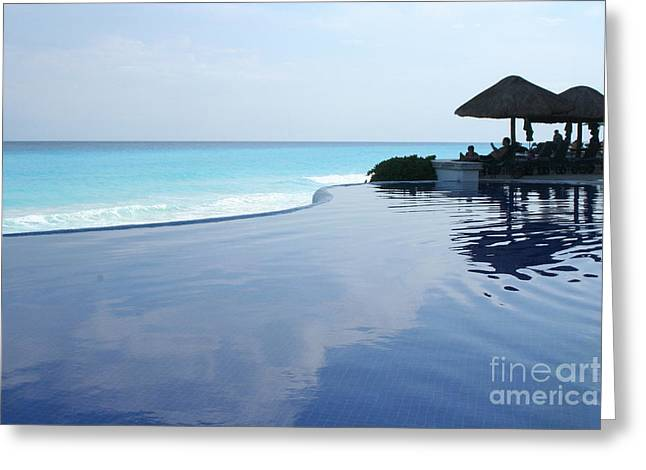 Infinity Greeting Cards - Infinity Pool Greeting Card by Thomas Marchessault