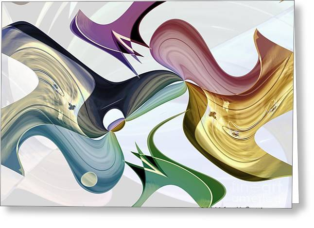 Infinity Series No.5 Greeting Card by Michael C Geraghty