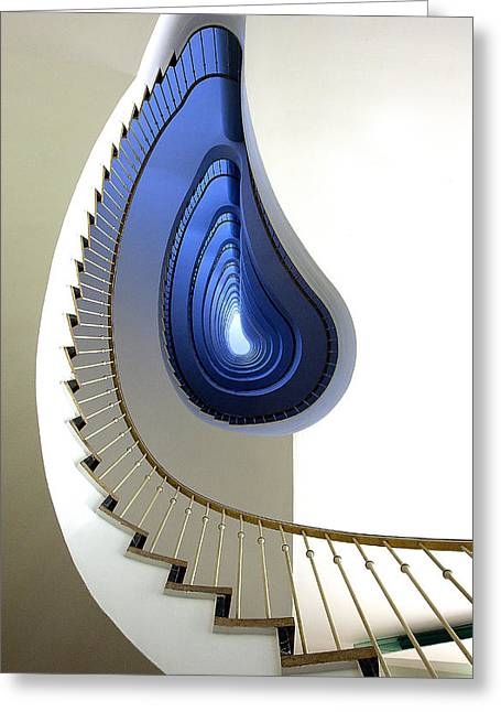 Spiral Staircase Greeting Cards - Infinity Steps Greeting Card by Martin Widlund