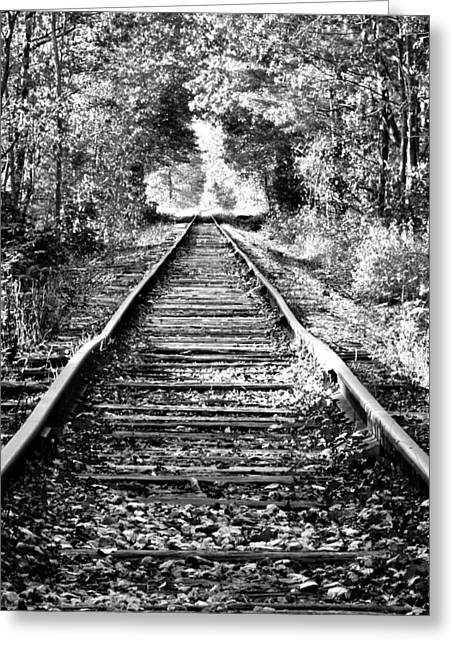 Concord Greeting Cards - Infinity Train Greeting Card by Greg Fortier