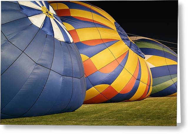 Inflating For The Night Glow Greeting Card by Jeff Swan