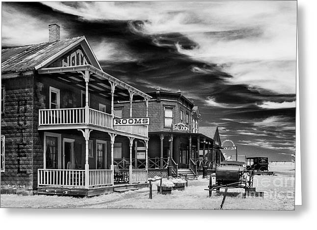Saloons Greeting Cards - Infrared Ghost Town #10 Greeting Card by Bill Piacesi