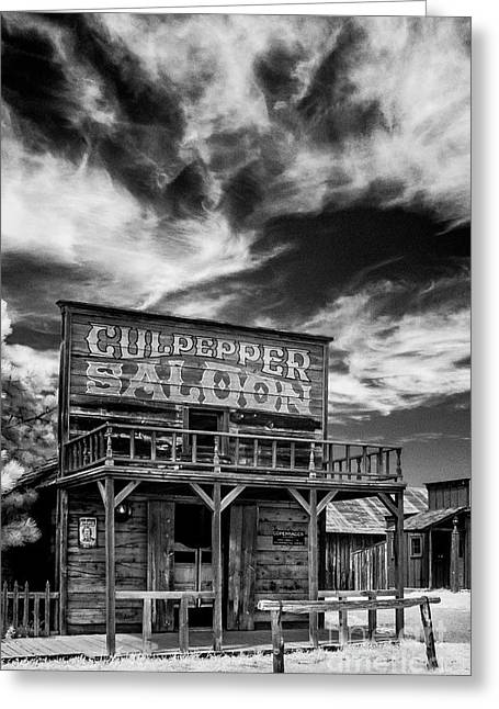 Saloons Greeting Cards - Infrared Ghost Town #13 Greeting Card by Bill Piacesi