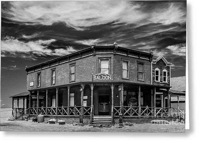 Saloons Greeting Cards - Infrared Ghost Town #9 Greeting Card by Bill Piacesi