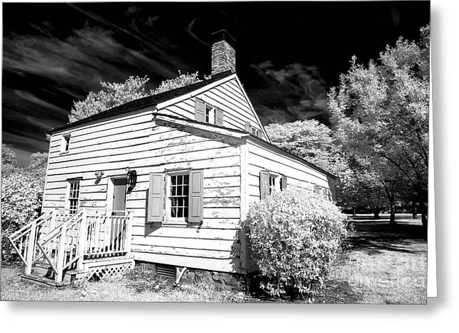 Infrared House At Olde Towne Greeting Card by John Rizzuto