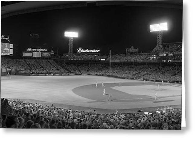 Fenway Park Greeting Cards - InfraRed Sox Greeting Card by Bryan Xavier