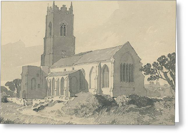 Ingham Church, Norfolk Greeting Card by John Sell Cotman