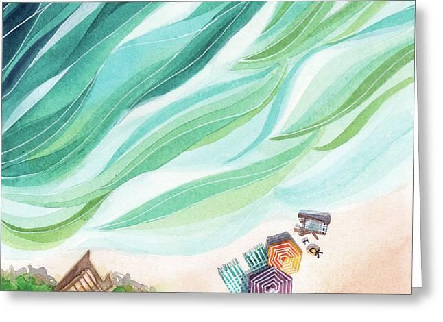 Inhale, Exhale Greeting Card by Stephie Jones