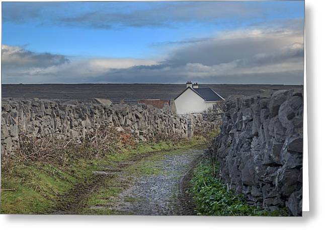 Meditate Greeting Cards - Inis Mor Country Greeting Card by Betsy C  Knapp