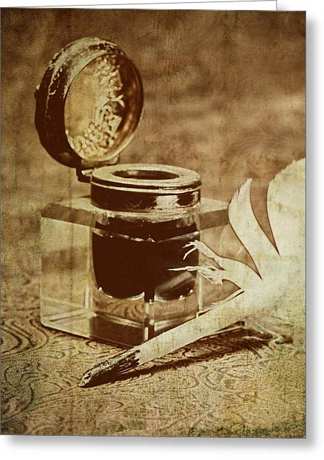 Pen Photographs Greeting Cards - Inkwell V Greeting Card by Tom Mc Nemar