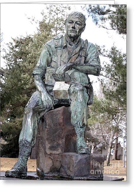 Spokane Greeting Cards - Inland Northwest Veterans Memorial Statue Greeting Card by Carol Groenen
