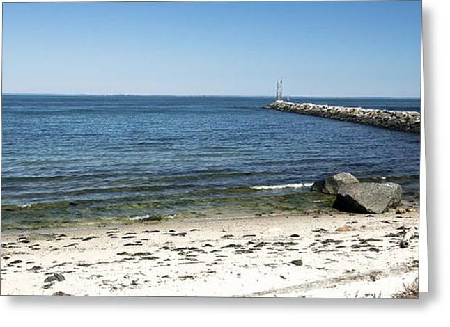York Beach Greeting Cards - Inlet Greeting Card by John Hoesly