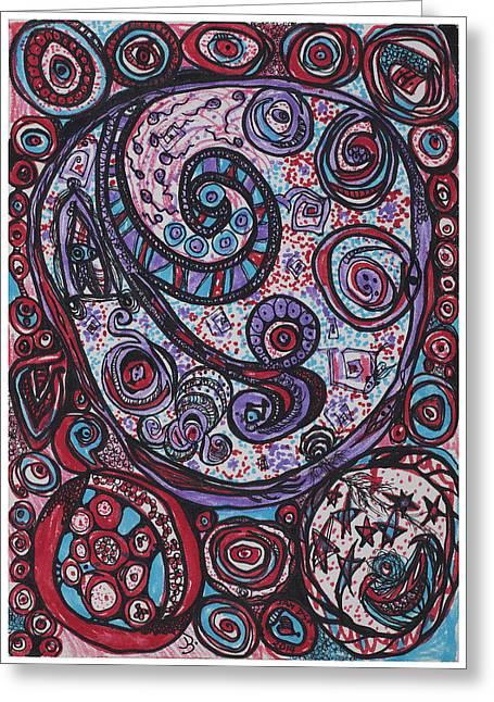 Star Fish Drawings Greeting Cards - Inner Cosmos Greeting Card by Jan DSa