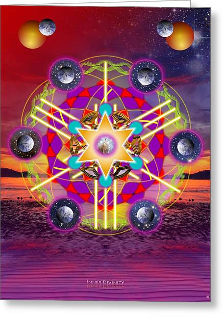 Sacred Circle Greeting Cards - Inner Divinity Greeting Card by Arie Van der Wijst