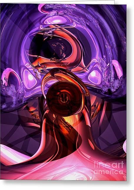 Inner Feelings Abstract Greeting Card by Alexander Butler