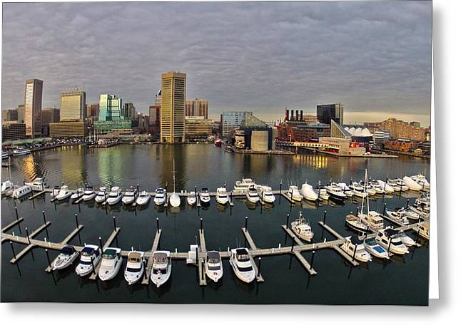 Go Pro Greeting Cards - Inner Harbor Greeting Card by Elevated Element