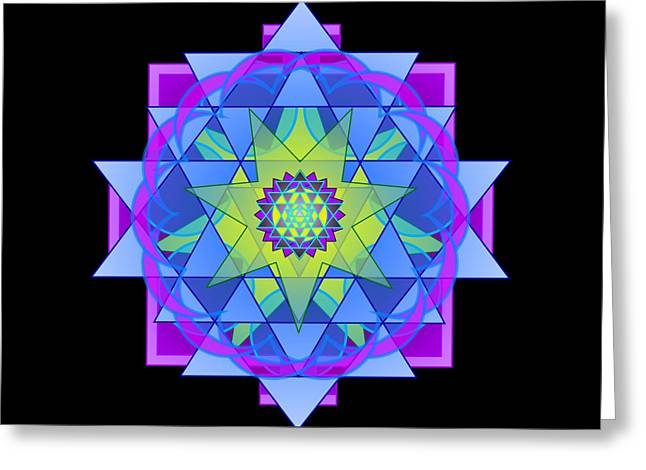 Inner Harmony Greeting Cards - Inner Light Mandala Greeting Card by Mimulux patricia no