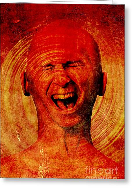 Hysterical Greeting Cards - Inner Pain Greeting Card by George Mattei