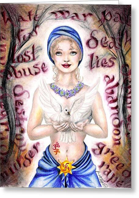 Pendants Drawings Greeting Cards - Inner Peace  Greeting Card by Scarlett Royal