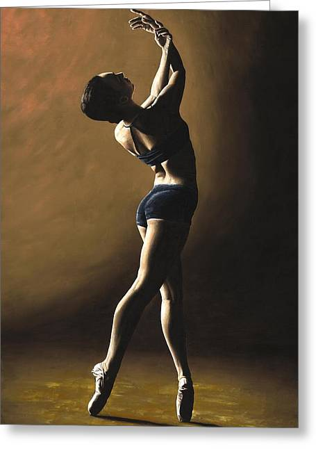Modern Dance Greeting Cards - Inner Sanctuary Greeting Card by Richard Young