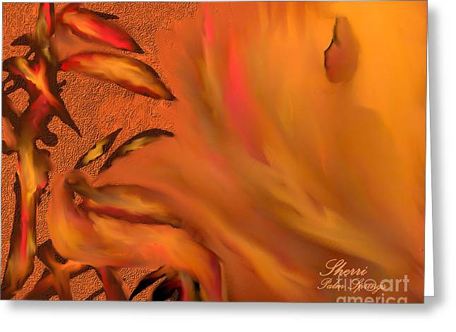 Digital Art Greeting Cards - Inner Self Contemplation Greeting Card by Sherri  Of Palm Springs