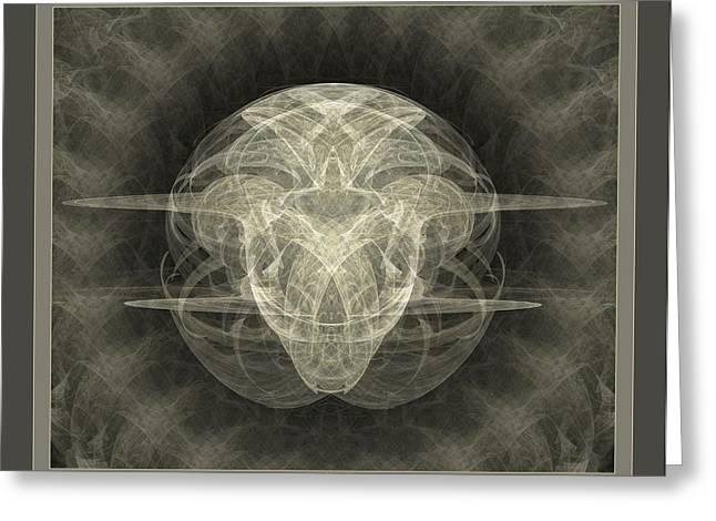 Fractals Digital Art Greeting Cards - Inner Spirit Greeting Card by Sherry Holder Hunt