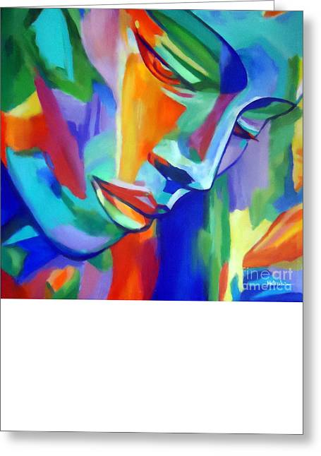 Print On Canvas Greeting Cards - Inner strength Greeting Card by Helena Wierzbicki