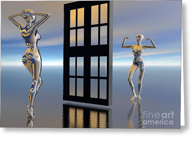 Inner Reflections Greeting Cards - Inner Strength Greeting Card by Sandra Bauser Digital Art