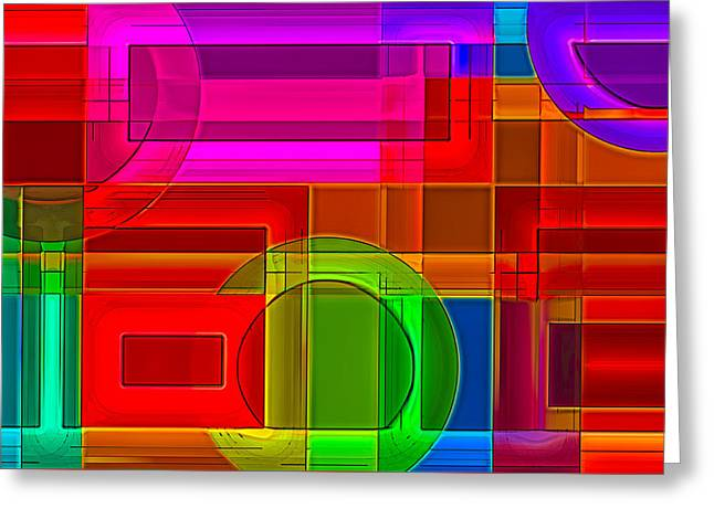 Geometric Art Greeting Cards - Inner World Greeting Card by Rick Baker