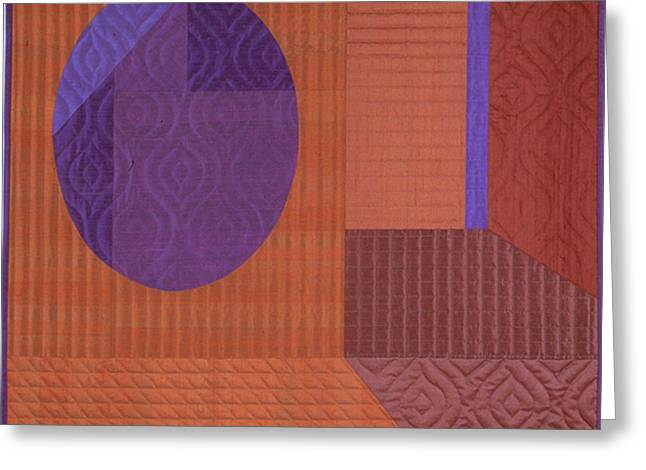 Abstract Quilt Tapestries - Textiles Greeting Cards - Innerspace 11 Greeting Card by Marilyn Henrion