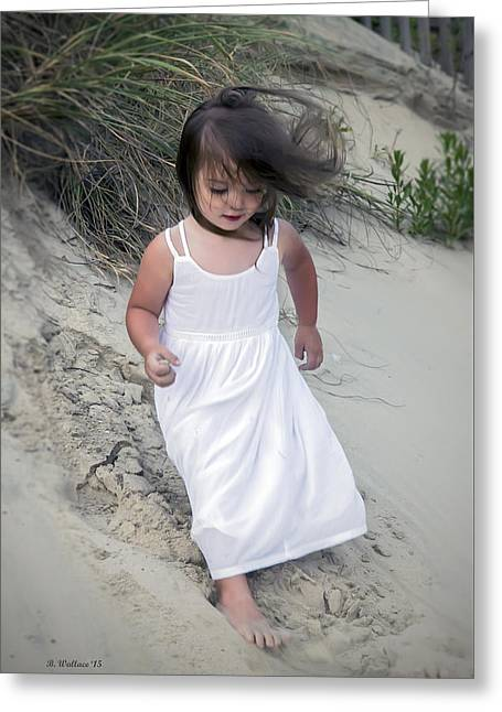 Dress Greeting Cards - Innocence On The Dunes Greeting Card by Brian Wallace