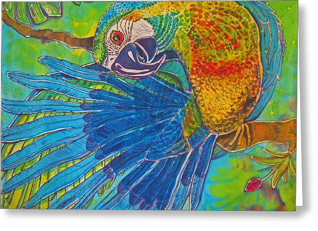 Large Tapestries - Textiles Greeting Cards - Inquisitive Greeting Card by Kelly ZumBerge