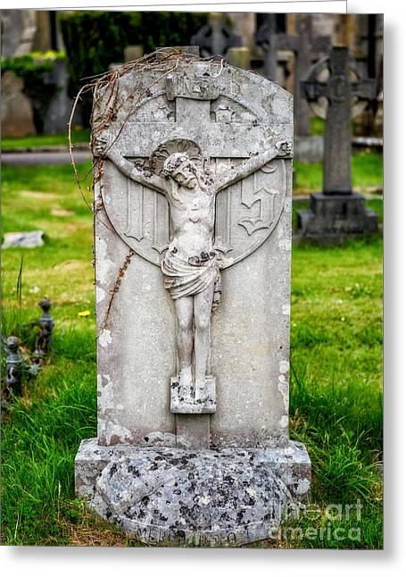 Inri Grave Greeting Card by Adrian Evans
