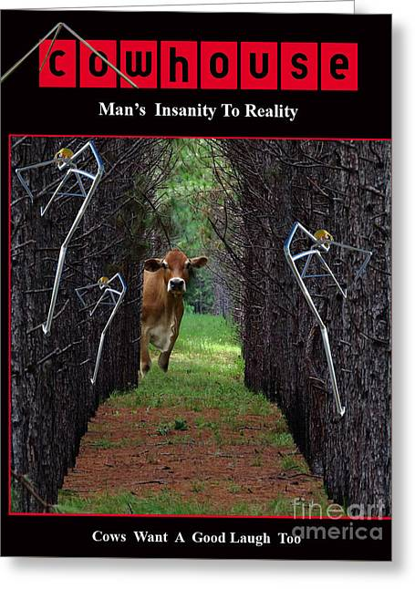 Insanity To Reality No. I Greeting Card by Geordie Gardiner