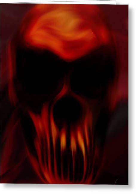 Torment Digital Greeting Cards - Insanity Greeting Card by Vic Weiford