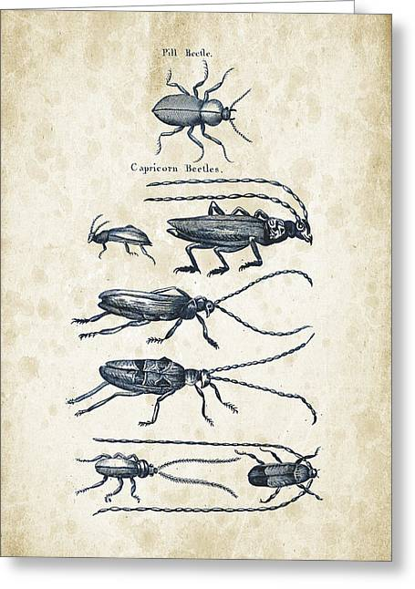 Insects - 1792 - 03 Greeting Card by Aged Pixel