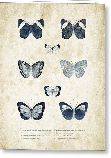 Vintage Books Greeting Cards - Insects - 1832 - 02 Greeting Card by Aged Pixel