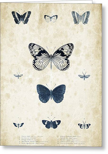 Vintage Books Greeting Cards - Insects - 1832 - 03 Greeting Card by Aged Pixel