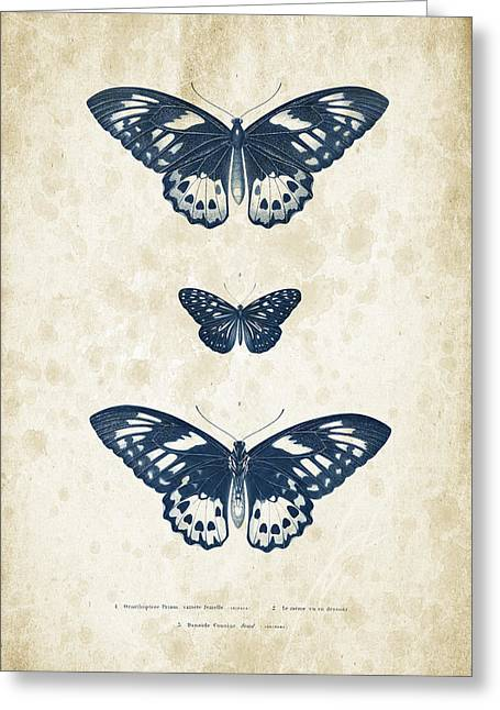 Vintage Books Greeting Cards - Insects - 1832 - 04 Greeting Card by Aged Pixel