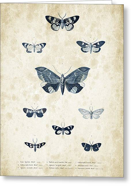 Vintage Books Greeting Cards - Insects - 1832 - 05 Greeting Card by Aged Pixel