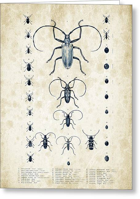 Vintage Books Greeting Cards - Insects - 1832 - 08 Greeting Card by Aged Pixel