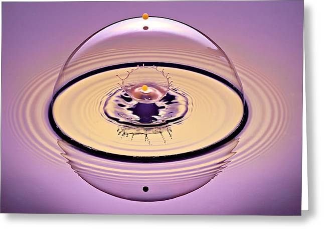 Puddle Greeting Cards - Inside a Saturn Bubble Greeting Card by Susan Candelario