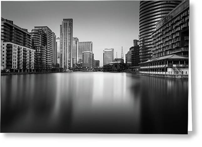 Inside Canary Wharf Greeting Card by Ivo Kerssemakers