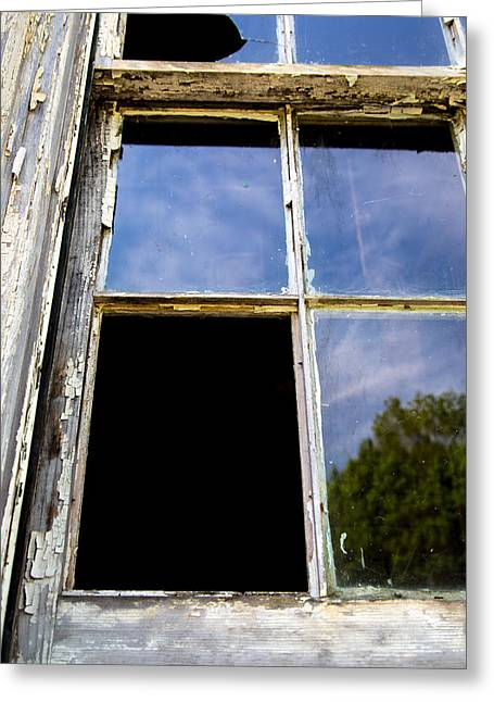 Broken Windows Greeting Cards - Inside Darkness Greeting Card by Karol  Livote