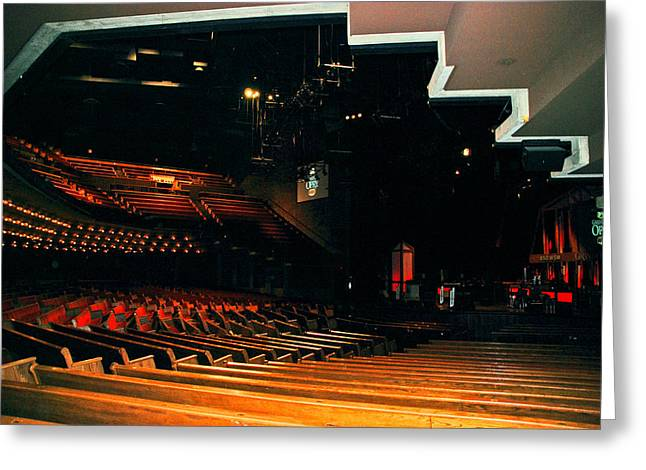 Nashville Greeting Cards - Inside Grand Ole Opry Nashville Greeting Card by Susanne Van Hulst
