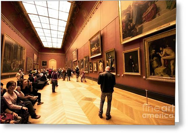Inside Louvre Museum  Greeting Card by Charuhas Images